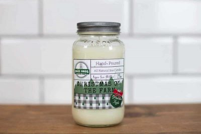 Christmas on the Farm Hand Poured Soy Wax Candle